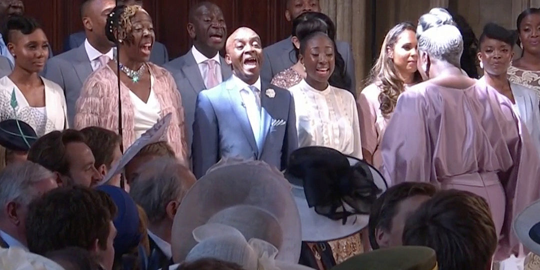 Image result for The gospel choir at the royal wedding